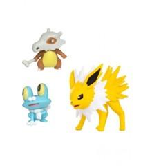 Pokemon - Battle Figure Set 3 pack - Jolteon, Cubone & Froakie