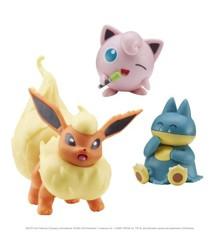 Pokemon - Battle Figure Set 3 pack - Flareon, Munchlax & Jigglypuff