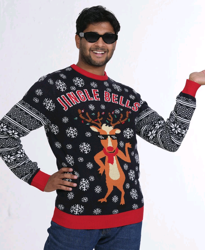 Jingle Bells LED Christmas Sweater - XS