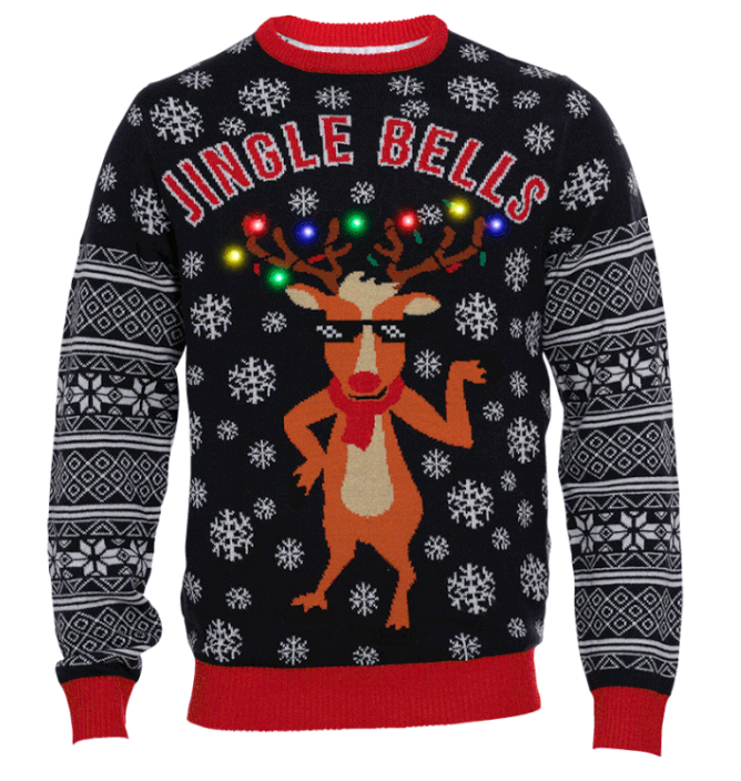 Jingle Bells LED Christmas Sweater - S