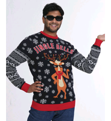 Jingle Bells LED Christmas Sweater - XL