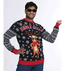 Jingle Bells LED Julesweater - XL