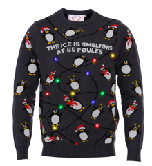 The Penguins Christmas Sweater - L