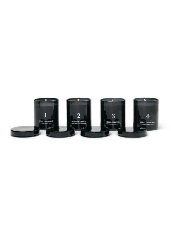 Ferm Living​ - Scented Advent Candles Set of 4 - Black (1104263198)