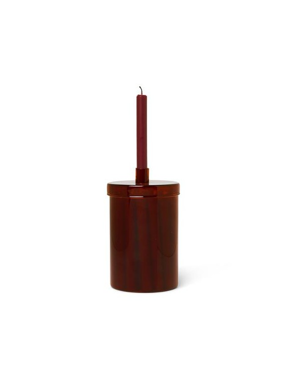 Ferm Living - Countdown To Christmas Candles - Dark Red (1104263216)