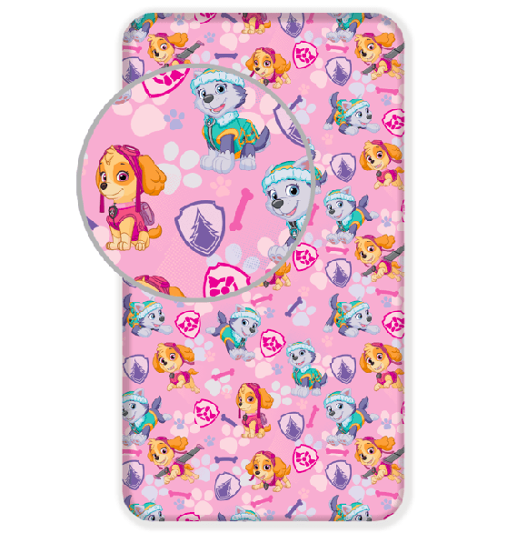 Fitted sheet - 90x200 cm - Paw Patrol (1007)