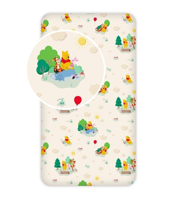 Fitted sheet - 90x200 cm - Winnie The Pooh (001)