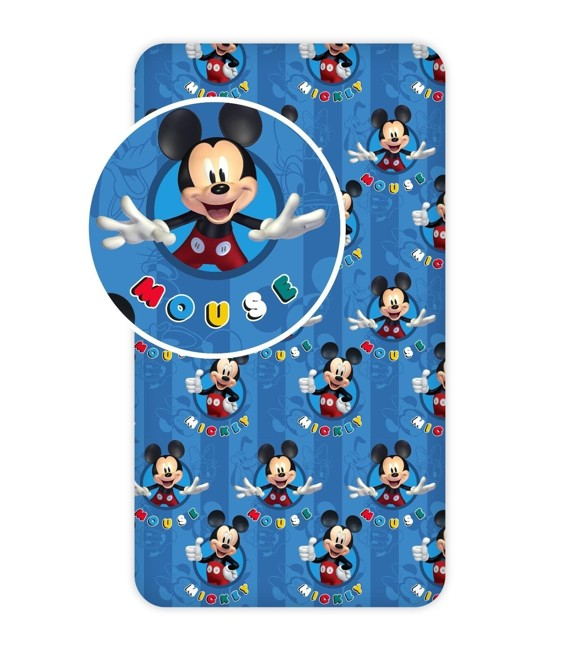 Fitted sheet - 90x200 cm - Mickey (002)