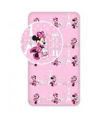 Fitted sheet - 90x200 cm - Minnie (013)