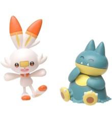 Pokemon - Battle Figure – Munchlax and Scorebunny (97626)