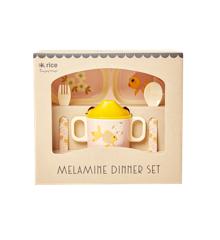 Rice - Melamine Baby Dinner Set Giftbox - Goldfish Print