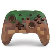 PowerA Nintendo Switch Enh Wireless Controller - Minecraft Grass Block