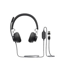 Logitech - Zone Wired Teams, Graphite