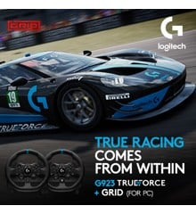 Logitech - G923 Racing Wheel Xbox One and PC + Grid Game bundle