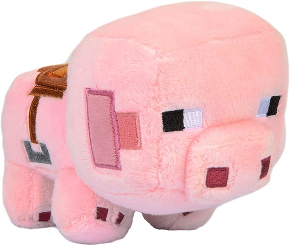 Minecraft Happy Explorer Saddled Pig Plush