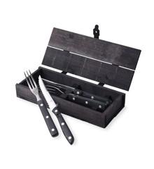 Gense - Old Farmer Classic Steak Cutlery 2 Set - Black (704797)