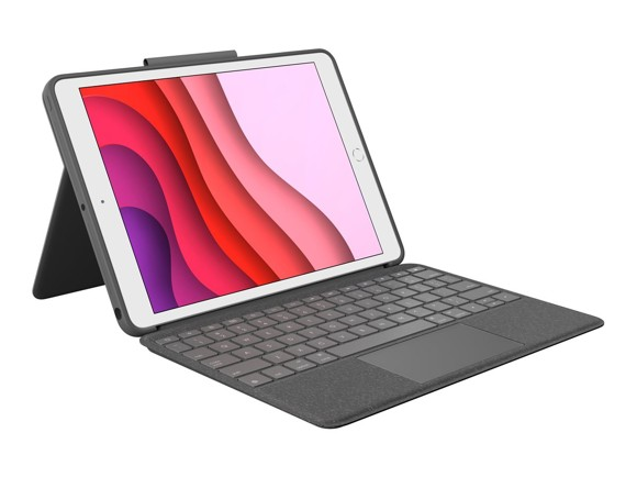 Logitech - Combo Touch for iPad 7th generation - GRAPHITE Nordic