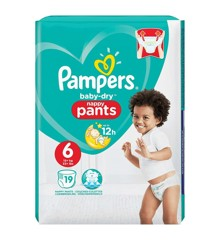 Pampers - Baby Dry Nappy Pants Size 6 19 Pcs