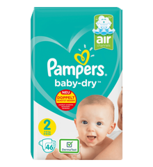 Pampers - Baby Dry Nappies Size 2 46 Pcs