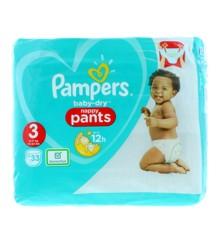 Pampers - Baby Dry Pants Bleer Size 3 - 33  Stk