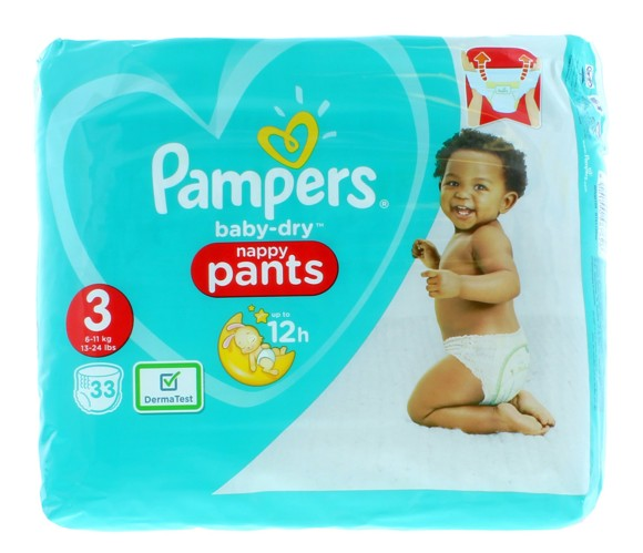 Pampers - Baby Dry Pants Size 3 33  Pcs
