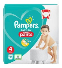Pampers - Baby Dry Nappy Pants Size 4 29 Pcs