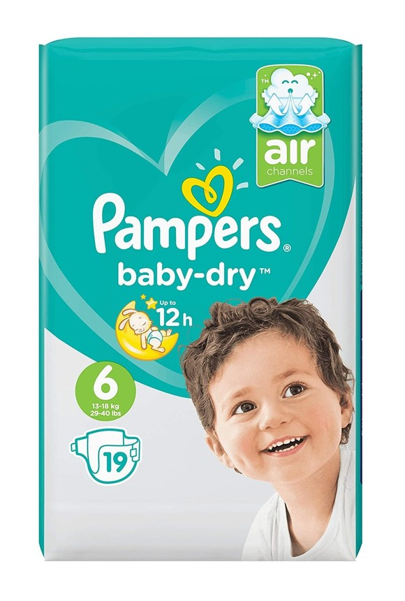 Pampers - Baby Dry Nappies Size 6 19 Pcs