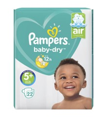 Pampers - Baby Dry Nappies Size 5+ 22 Pcs