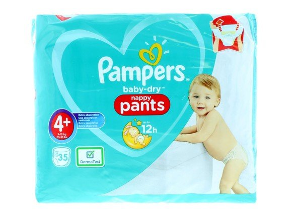 Pampers - Baby Dry Nappy Pants Size 4 35 Pcs