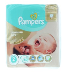 Pampers - Premium Care Nappies Size 2 80 Pcs