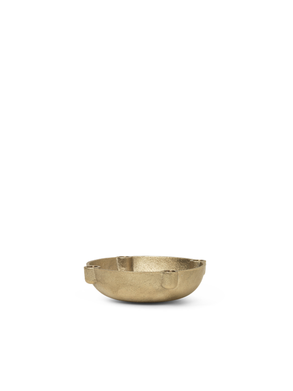 Ferm Living - Bowl Candle Holder Small - Brass (1104263162)