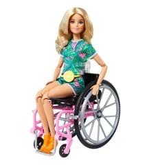 Barbie - Dukke i Kørerstol med Tilbehør