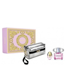 Versace - Bright Crystal EDT 90 ml +  EDT 10 ml + Pouch - Giftset