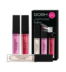 GOSH - Beauty Sæt 3 Stk Ligh't N' Shine Lipgloss