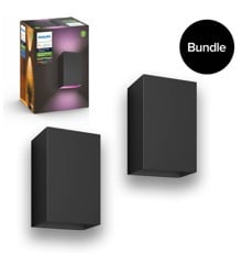 Philips Hue - 2x Resonate Outdoor Wandleuchte - White & Color Ambiance - Bundle