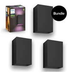 Philips Hue - 3x Resonate Outdoor Wandleuchte - White & Color Ambiance - Bundle