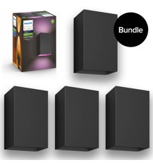 Philips Hue - 4x Resonate Wall Light Outdoor -  White Color Ambiance - Bundle