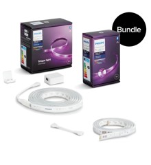 Philips Hue - V4 Lightstrip Plus Starter Kit 2 meter &  1 Meter Extension - Bundle