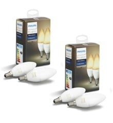 Philips Hue -  2x E14 2-Pack Bulb - White Ambiance - Bundle