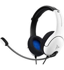 PDP LVL40 Wired Stereo Headset for PS4 and Playstation 5 White