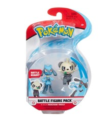 Pokemon - Battle Figure Pack - 5cm - Pancham and Riolu