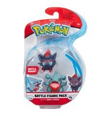 Pokemon Battle Figure Pack - 5cm - Gible and Zorua