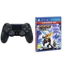 Sony Dualshock 4 Controller v2 - Black + Ratchet & Clank (PlayStation Hits) (Nordic)