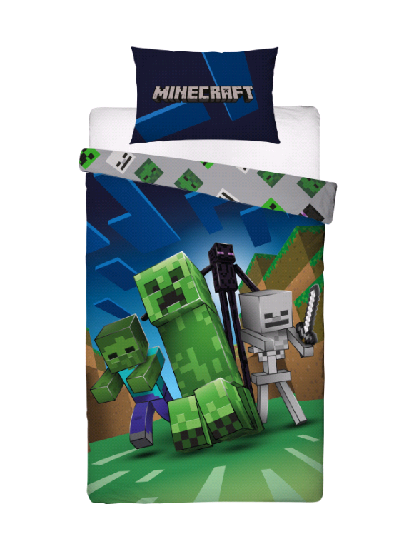 Bed Linen - Adult Size 140 x 200 cm -  Minecraft  (MNC199)