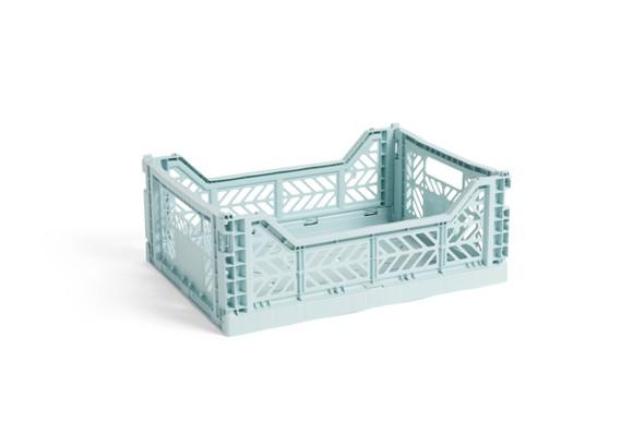 HAY - Colour Crate Kasse Medium Sæt á 2 - Arctic Blå