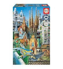 Educa - Puzzle 1000 - Gaudi Collage - Miniature (011874)