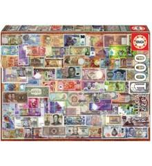Educa - Puslespil 1000 brikker - Alverdens pengesedler (017659)