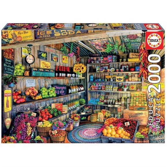 Educa - Puzzle 2000 - Farmers Market ( 017127)