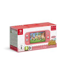 Nintendo Switch Lite Coral & Animal Crossing + 3M NSO