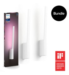 Philips Hue - Liane Wall Light White -  White & Color Ambiance - Bluetooth - Bundle